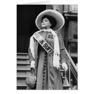 Stylin Suffragette 1908 Tarjeta