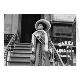 Stylin Suffragette, 1908 Tarjeta De Felicitación