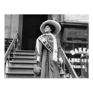 Stylin Suffragette, 1908 Postal