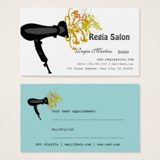 Styling Salon Hair Dryer  Beauticians Business Card