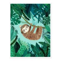 Styling Sloth Postcard