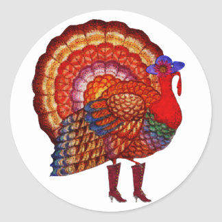 Styling Turkey Classic Round Sticker
