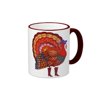 Styling Turkey Ringer Coffee Mug