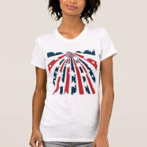 Stylised American Flag Womens T-Shirt