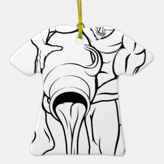 Stylised aquarius water bearer illustration Double-Sided T-Shirt ceramic christmas ornament