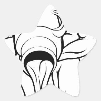 Stylised aquarius water bearer illustration star stickers
