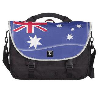 Stylised Aussie Australian flag on a blue backgrou Commuter Bags