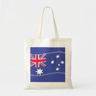 Stylised Aussie Australian flag on a blue backgrou Tote Bag