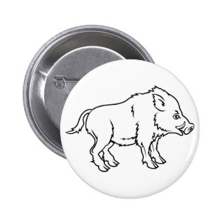 Stylised boar illustration pins