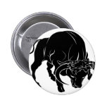 Stylised bull illustration pins