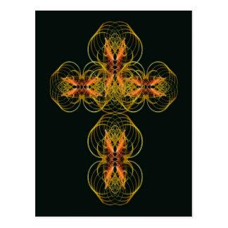 Stylised Celtic Cross Postcard