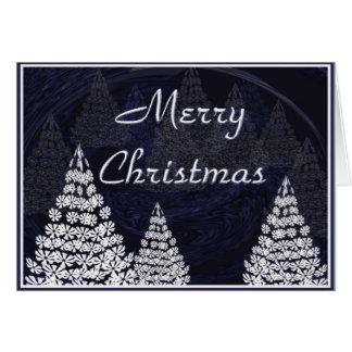 Stylised Christmas trees Card