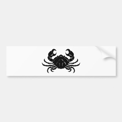Stylised Crab illustration Bumper Sticker
