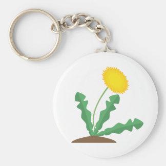 Stylised Dandelion Basic Round Button Keychain