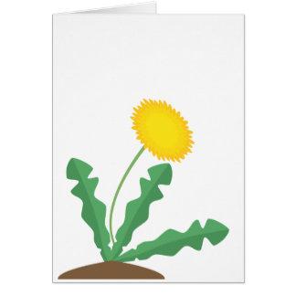 Stylised Dandelion Greeting Card
