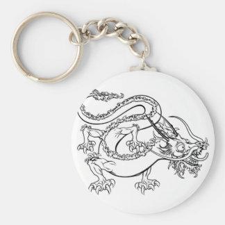 Stylised dragon illustration keychain