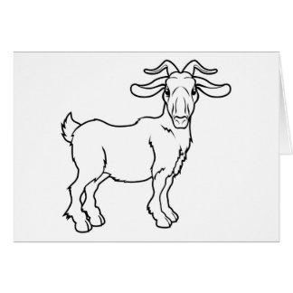 Stylised goat illustration cards