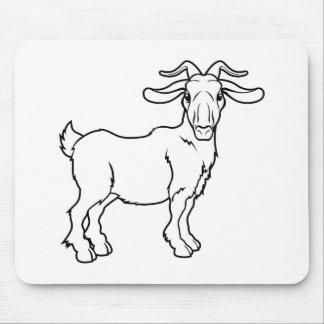 Stylised goat illustration mouse mat