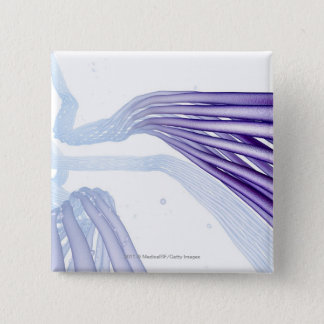 Stylised nerve fibers pinback button
