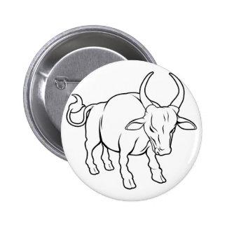 Stylised ox illustration button