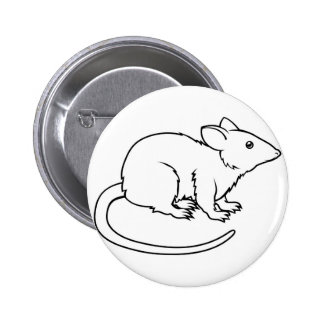 Stylised rat illustration buttons