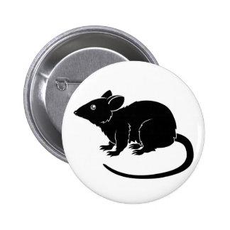 Stylised rat illustration pins
