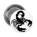 Stylised Scorpion illustration Pinback Buttons