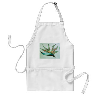 Stylised tropical flower adult apron