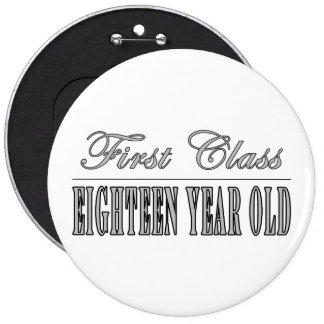 Stylish 18th Birthdays : First Class Eighteen Pin