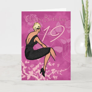 Stylish 19th Birthday Card