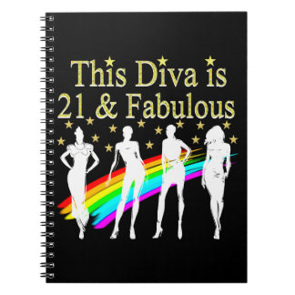 STYLISH 21 & FABULOUS FASHION QUEEN DESIGN NOTEBOOK