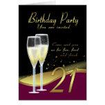 Stylish 21st Birthday Party Invitation Card