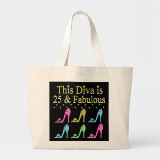 STYLISH 25 & FABULOUS SHOE QUEEN DESIGN LARGE TOTE BAG
