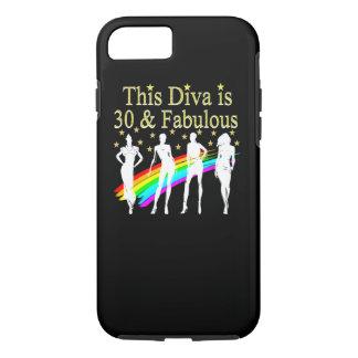 STYLISH 30 AND FABULOUS 30TH BIRTHDAY DESIGN iPhone 8/7 CASE
