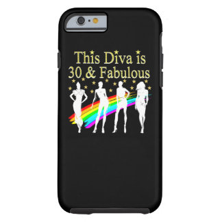 STYLISH 30 AND FABULOUS 30TH BIRTHDAY DESIGN TOUGH iPhone 6 CASE