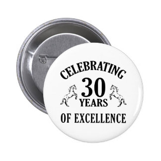Stylish 30th Birthday Gift Ideas Pinback Buttons