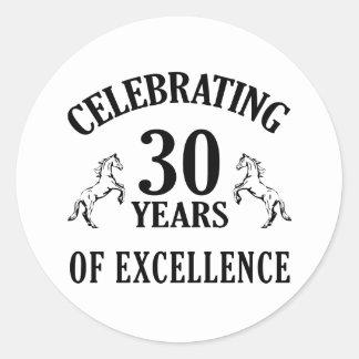 Stylish 30th Birthday Gift Ideas Classic Round Sticker