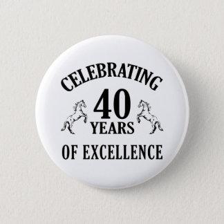 Stylish 40th Birthday Gift Ideas Pinback Button