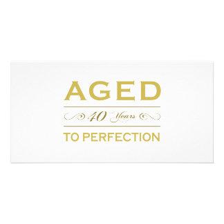Stylish 40th Birthday Gifts Card