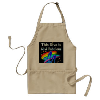 STYLISH 50 YEAR OLD SHOE QUEEN ADULT APRON