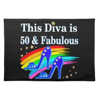 STYLISH 50 YEAR OLD SHOE QUEEN CLOTH PLACE MAT