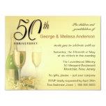 Stylish 50th Anniversary Party Invitations