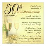 Stylish 50th Anniversary - Square Invitations
