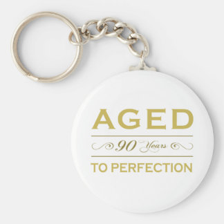 Stylish 90th Birthday Gifts Keychain