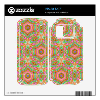 Stylish abstract pattern nokia n97 decals
