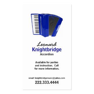 Stylish Accordion Business Card