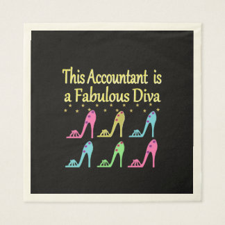STYLISH ACCOUNTANT SHOE LOVER DESIGN PAPER NAPKIN