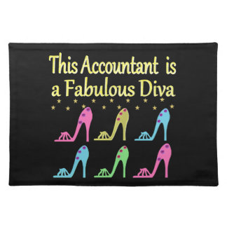 STYLISH ACCOUNTANT SHOE LOVER DESIGN PLACEMAT
