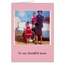 Stylish African American Mother's Day Card