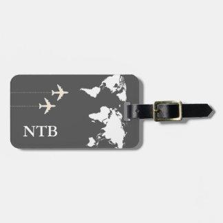 stylish airplane traveler tag for luggage